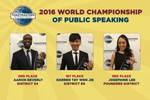 World Champions of Public Speaking 2016
